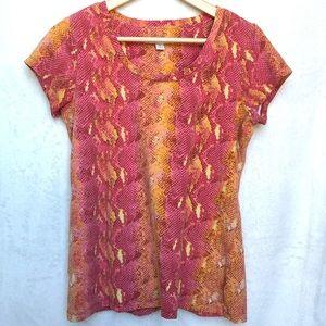 Isaac Mizrahi Live! Snake Print Knit Womens Top